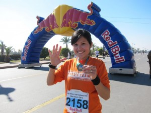 Ms Yvonne Chee at the International Marathon of Marrakech 2013