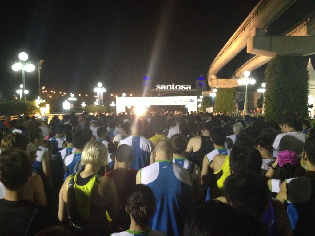 Moments prior flag-off. SCSM Half-Marathon starting pen.