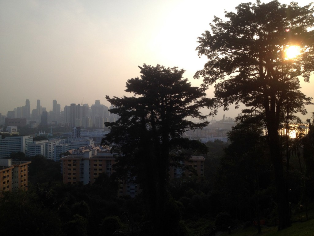 Panoramic view from Faber Walk top.