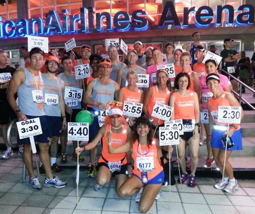 Pacing team in Miami Marathon. Photo: www.marathonpacing.com