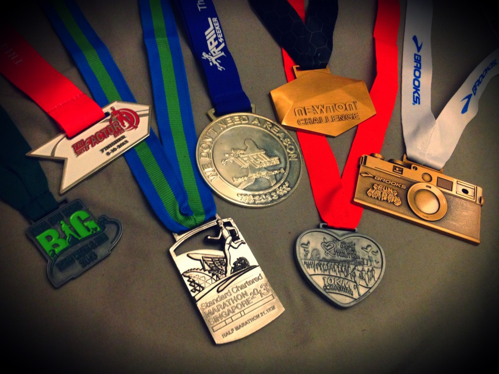 My medal rack got richer by 7 medals this year.