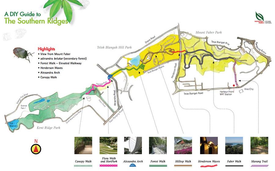Southern Ridges trail map