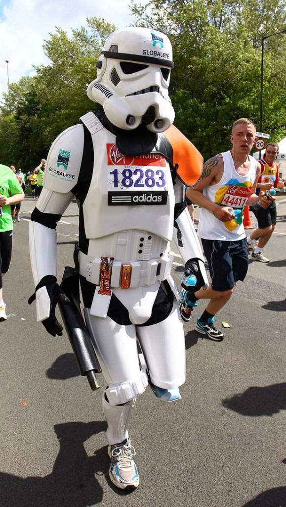 Fancy dress costume at the 2012 Virgin London Marathon-802358