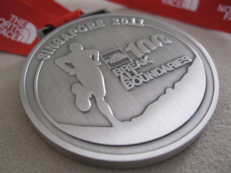 The North Face 100 Singapore 2011 medal1