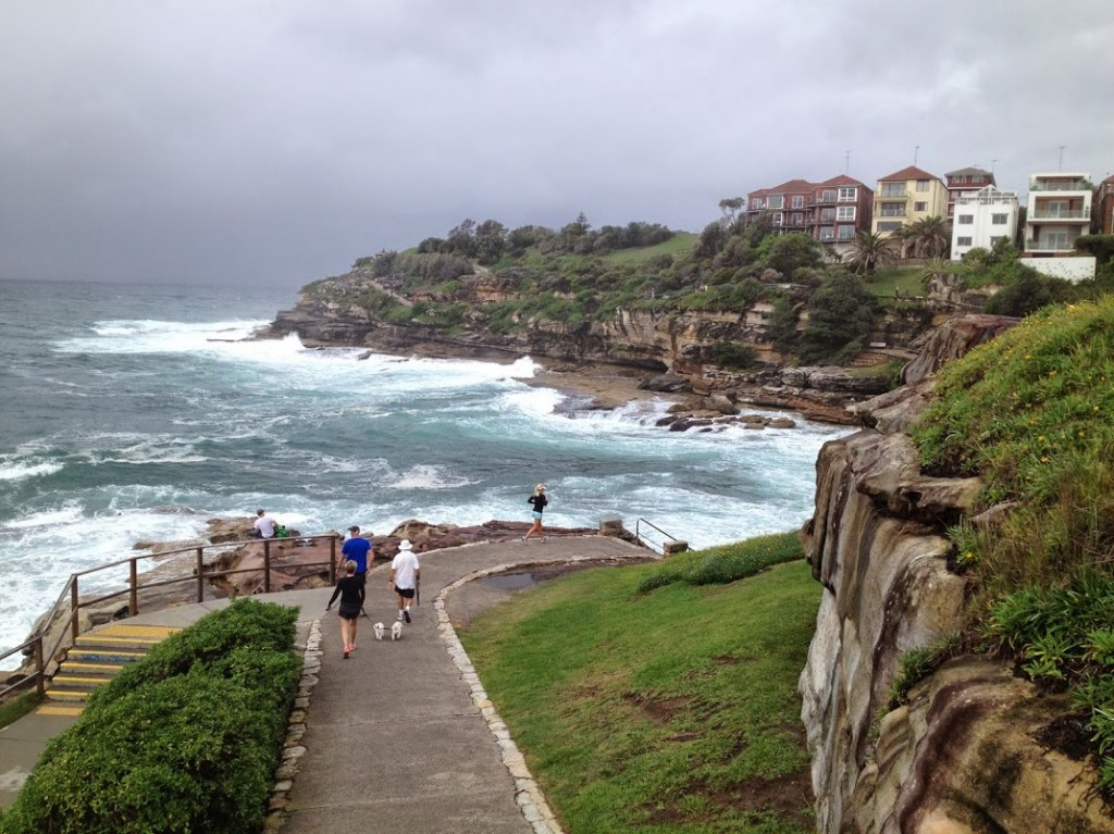 running along bondi beach sydney
