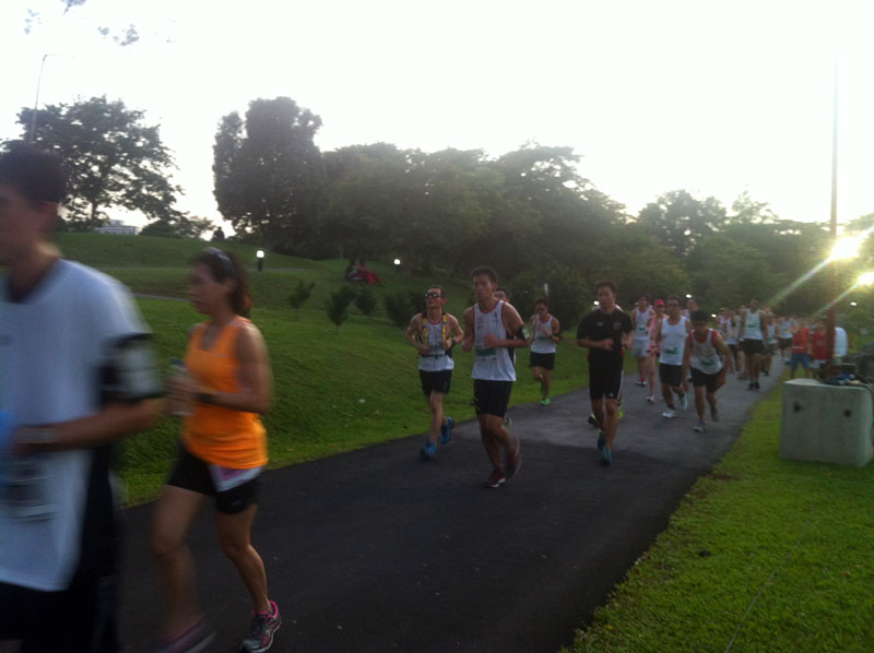 Runners at the Chinese Garden