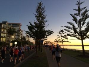 Beautiful Sunrise at the Gold Coast Airport Marathon in July 2014