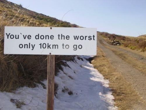 last 10km sign