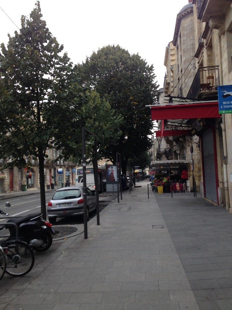 Along Cours Victor Hugo, one of the main streets of Bordeaux