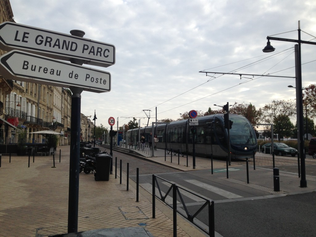 Bordeaux ultra modern and cool looking tram. Runs along the river. Great if you are taking a one way run.