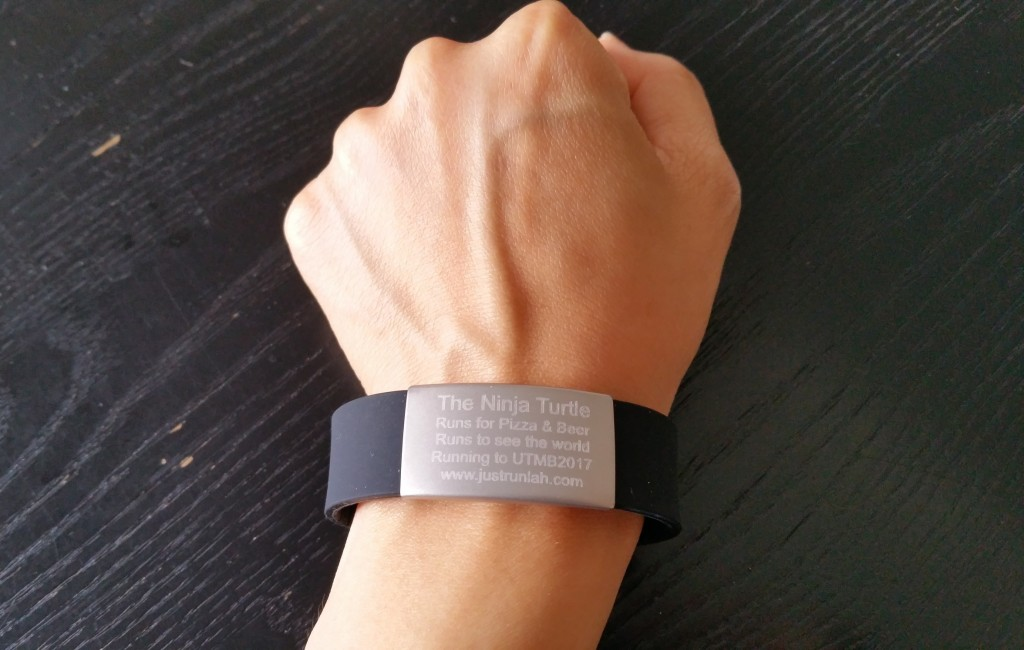 What I like: delivery time was super-fast What I love: how comfortable it feels What I use it for: a constant reminder of why I run