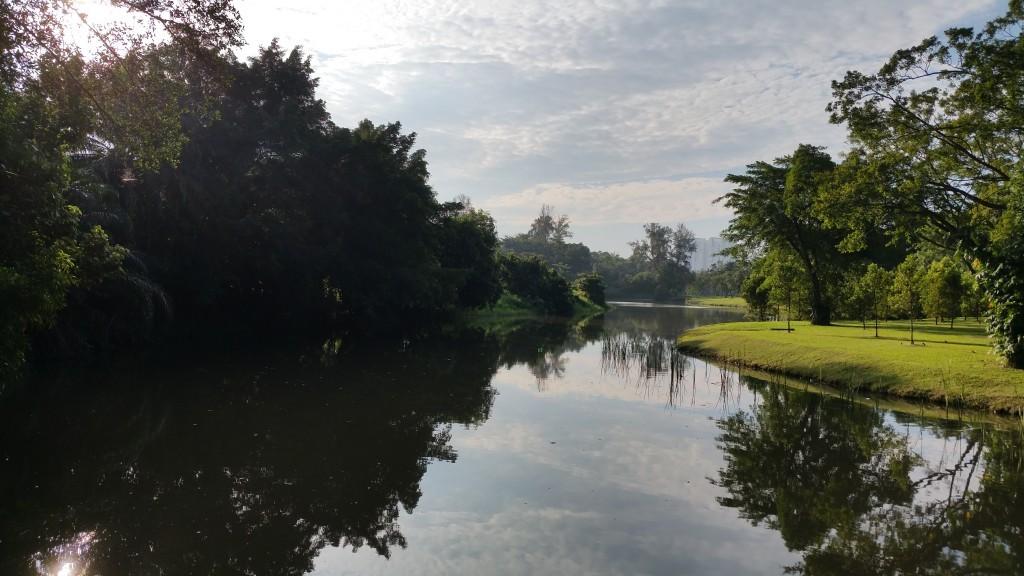 Jurong Lake Park at dawn in Singapore