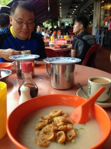 Breakfast at a HK cafe beside Casuarina Curry Restaurant