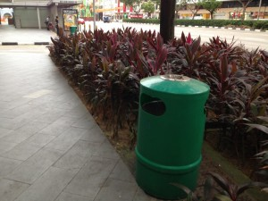 The humble green Singapore Dustbin.