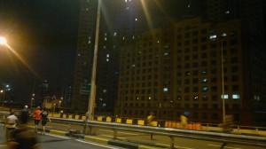 Buildings along the Skyway.