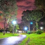 Bishan Park jogging track night
