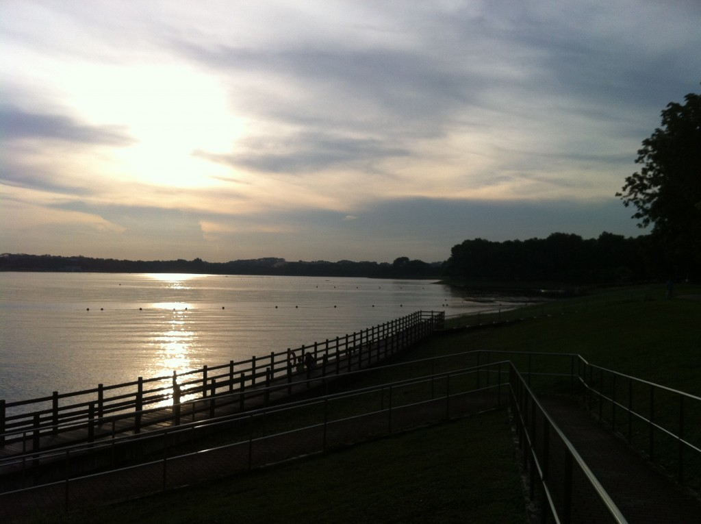 Tranquil sunset @ Bedok Reservoir, by Andy (August 2014)