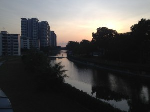 Condo, HDB and landed property along the Geylang River
