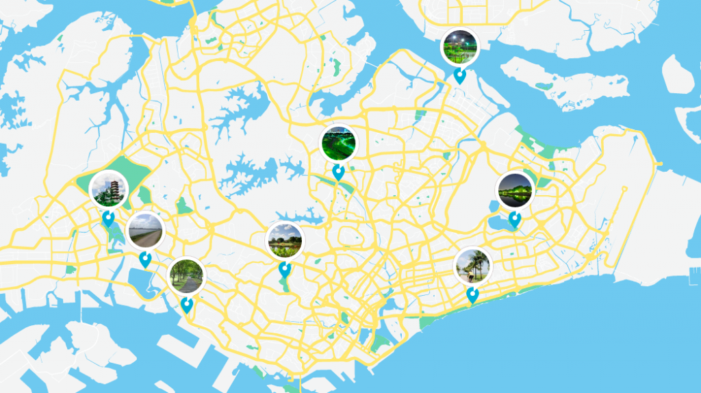 singapore running routes map