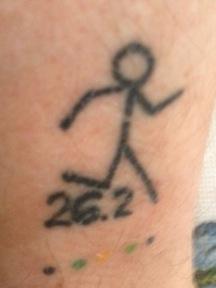 Running tattoos marathoners
