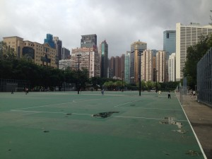 Huge ball games area at V Park
