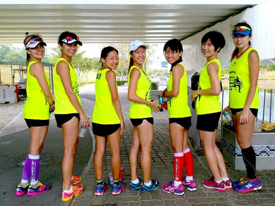 Ezann's first time as a pacer at the North East Compressport Run 2015