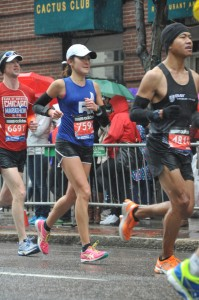 20/4/2015 Taking it easy at Boston Marathon 3:20 (9 wks pregnant)