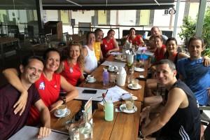 Team Costa feasting