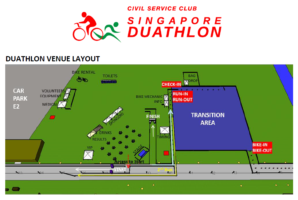 The Race Venue. Credit to Singapore Duathlon's E-Briefing materials.