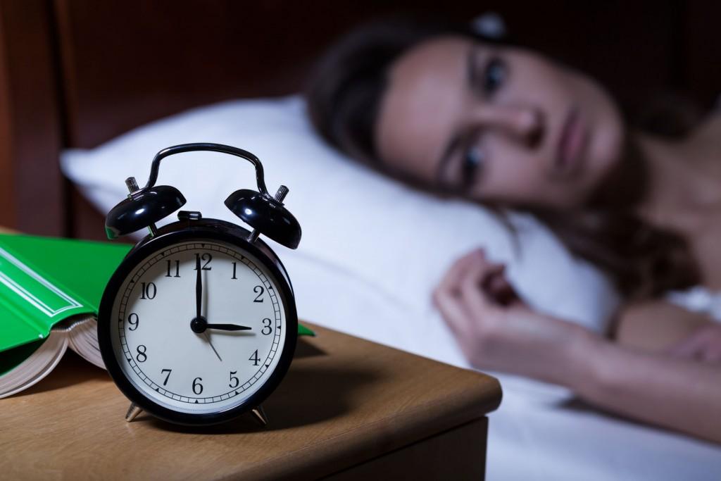 Woman suffering insomnia