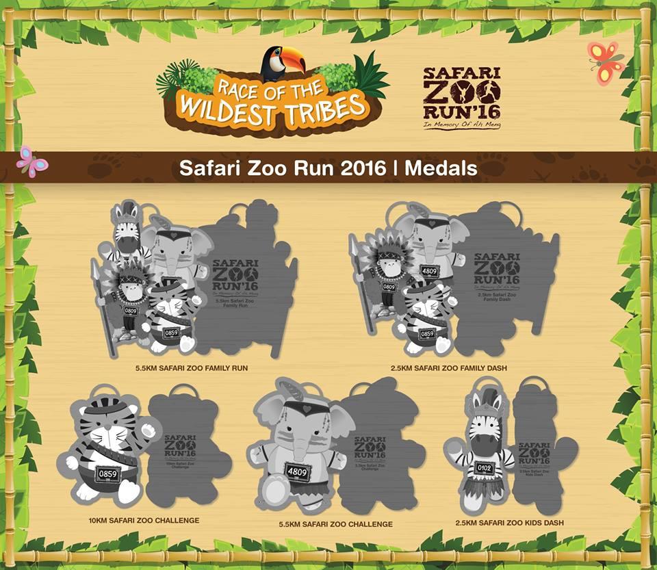 safari zoo run medals