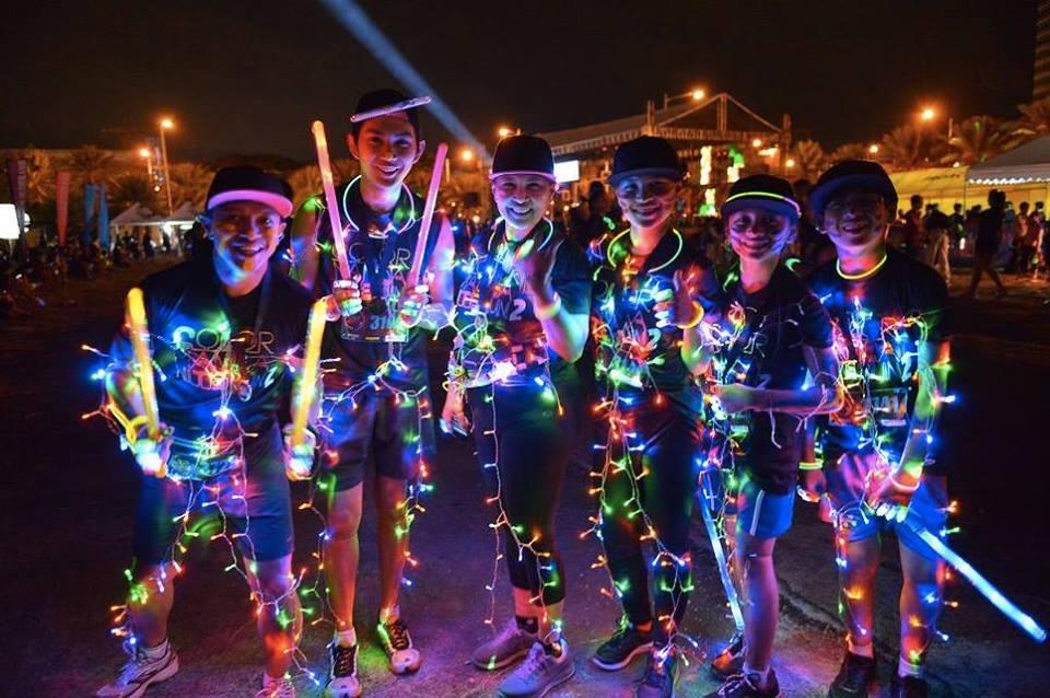 Tanjung Glow Nite Run 2016   Just Run Lah!