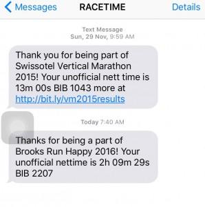 Racetime SMS