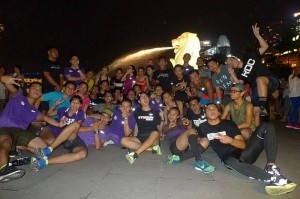 purple lights runners