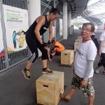 Box jump 10 sets.  Urghhh