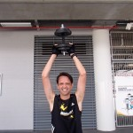 10 sets of dumbell overhead swing weighing 10kg