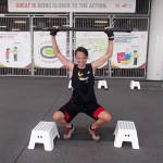 10 sets overhead squat lifting 10kg barbell