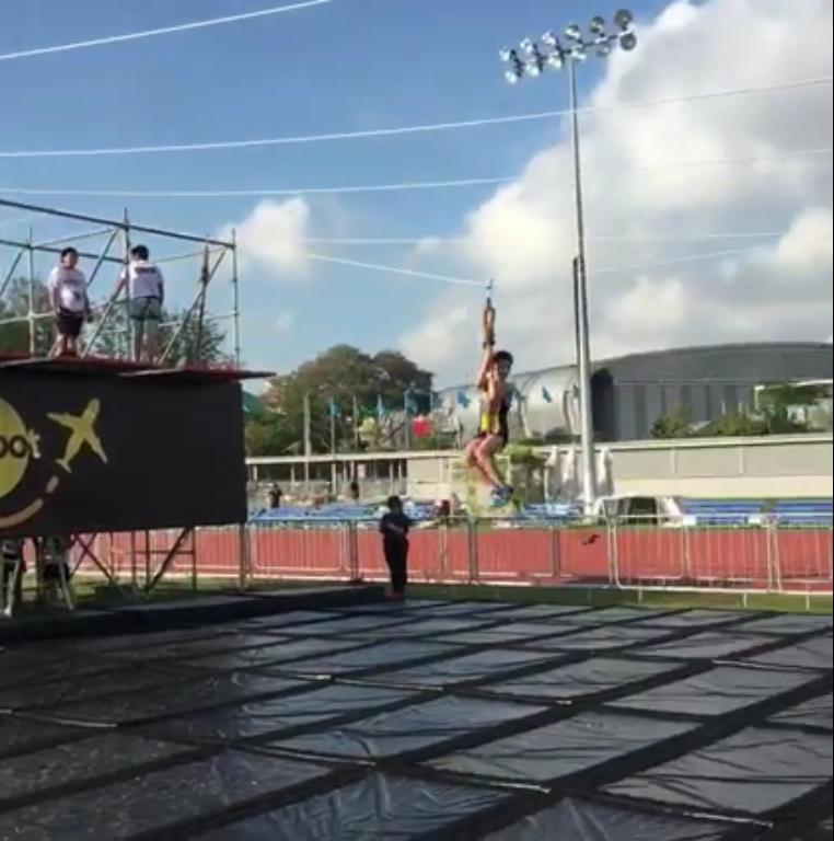 It's more fun in real life than on camera. Credit to MHU's Final Obstacle Video.