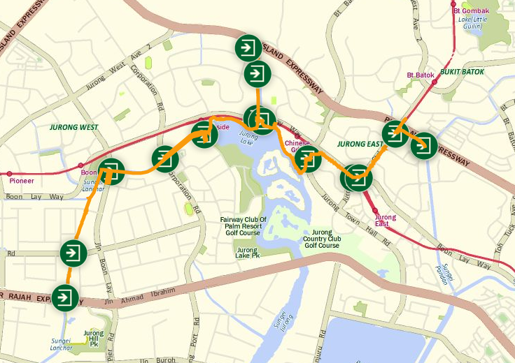 jurong park connector map