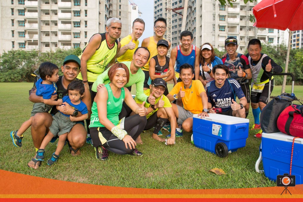 L-R : (back) Nel, Karl, Shaofei (mid) William, Faith, Jason Cheong, Lily, Esmond, Daniel (front) Jeeb Akid, Lena, Joseph Wong, myself, EuGene Aw + the one-wheeled cooler box