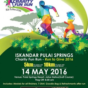 Iskandar Pulai Springs Charity Fun Run – Run to Give 2016