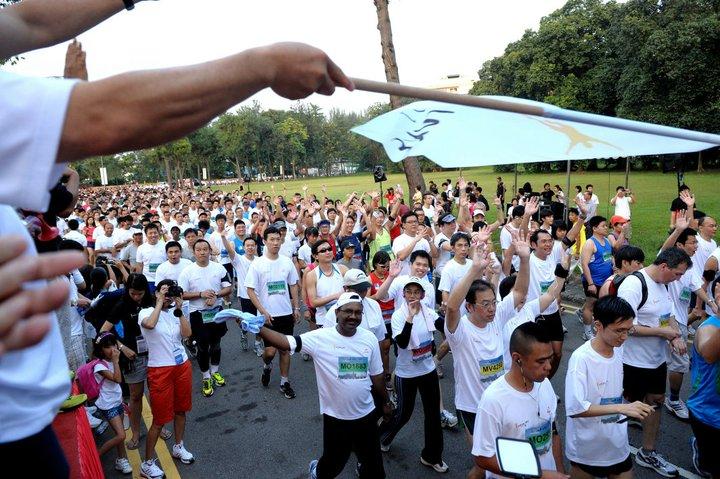 participants jurong lake run 2011