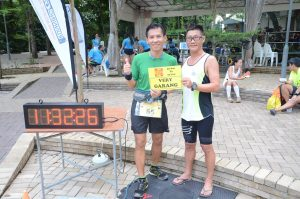 with my PB buddy cum pacer Encik Daniel Ong, definitely would not have been possible without his pacing, motivating, company, and belief
