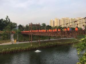 The bridge leading to the Start