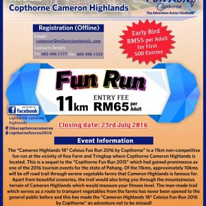 Cameron Highlands 18° Celsius Fun Run 2016