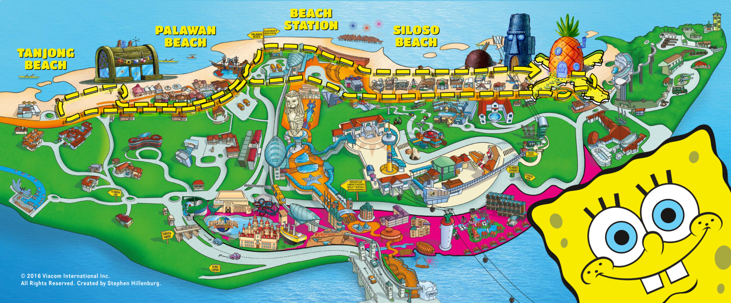 spongebob run map