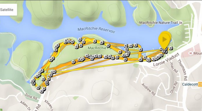 GPS Tracked Map