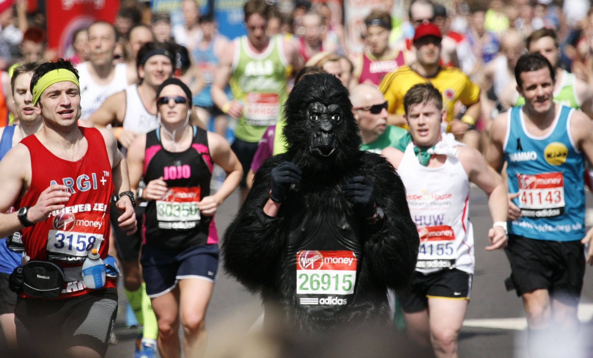 London Marathon wearing funny costume