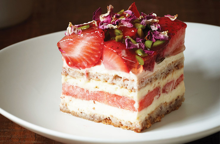 Black-star-pastry-strawberry-watermelon-cake