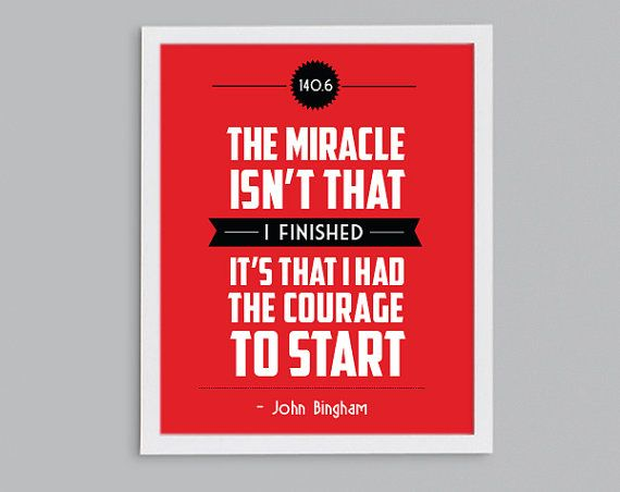 Courage to start